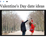 SD Union-Tribune: Valentine'd Day Date Ideas