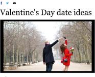 SD Union-Tribune: Valentine'd Day Date Ideas