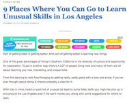 We Like LA: Learn unusual skills